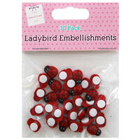 Ladybird Embellishments: Pack of 30