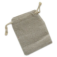 Drawstring Canvas Bags: Pack of 5