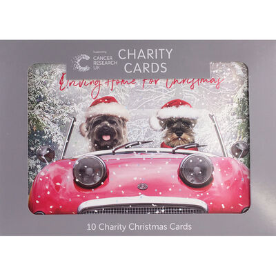 Cancer Research UK Charity Dog Christmas Cards: Pack of 10 image number 1