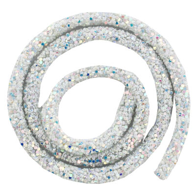 White Glitter Craft Trim 46cm image number 2