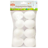 Polystyrene Eggs: Pack of 8