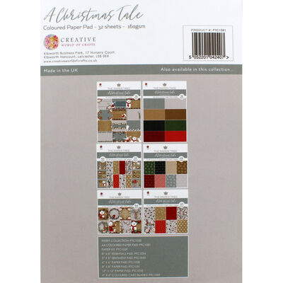 A Christmas Tale Coloured Paper Pad - 32 Sheets image number 4