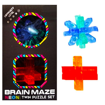 Neon Brain Maze Twin Puzzle Set - Assorted image number 4