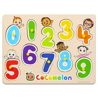 Cocomelon Wooden Numbers Peg Board