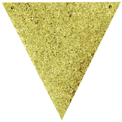 Make Your Own Gold Glitter Bunting image number 2