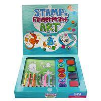Stamp Fingerprint Art Set: Sea
