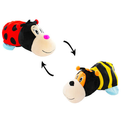 Reversimals 2-in-1 Plush Soft Toy - Ladybird and Bee image number 2