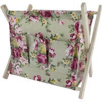Large Folding Wooden Craft Basket - Assorted