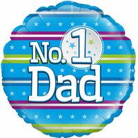 18 Inch No.1 Dad Helium Balloon
