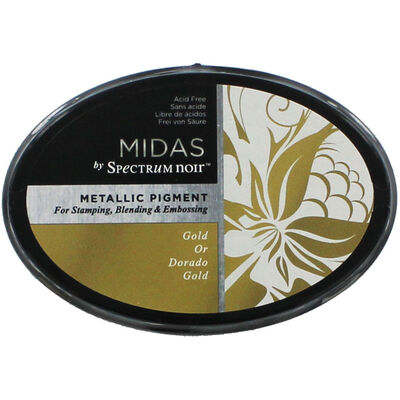 Midas by Spectrum Noir Metallic Pigment Inkpad - Gold image number 1
