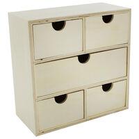5 Wooden Drawer Chest
