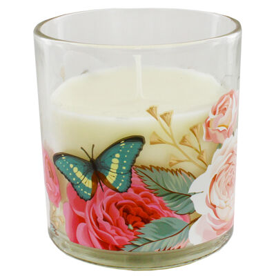 Floral Peony Petals Scented Candle image number 3