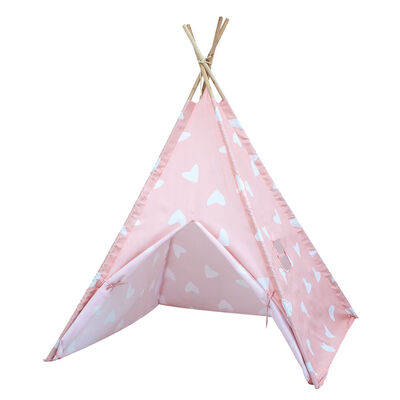 Pink Hearts Teepee Tent image number 1