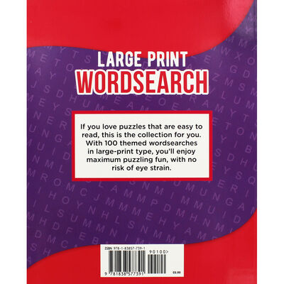 Classic Large Print Wordsearch: Purple image number 3