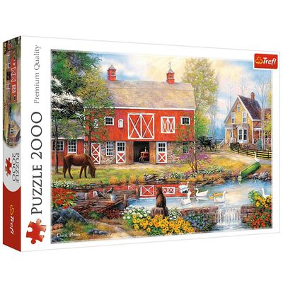 Rural Life 2000 Piece Jigsaw Puzzle image number 1