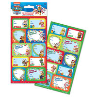 Paw Patrol Christmas Gift Labels: Pack of 20