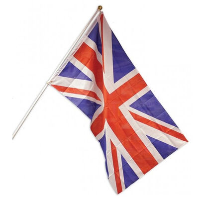 Union Jack 5ft Flag with Pole and Mount image number 1