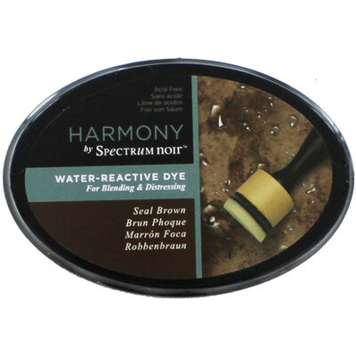 Harmony by Spectrum Noir Water Reactive Dye Inkpad - Seal Brown image number 1