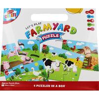 Farmyard 4-In-1 Puzzle Set