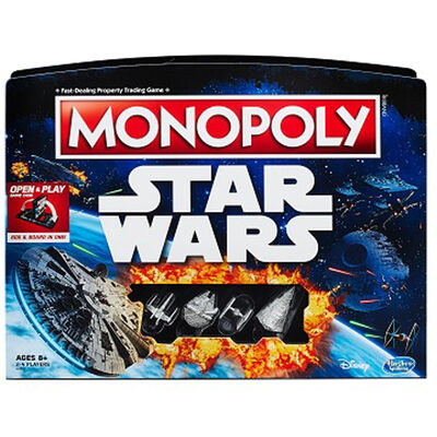 Monopoly Star Wars Open and Play Game Case image number 2