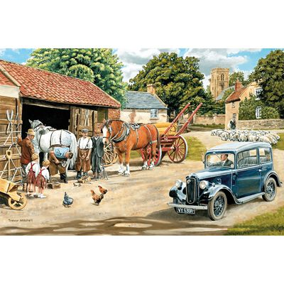 Passing The Smithy 1000 Piece Jigsaw Puzzle image number 2