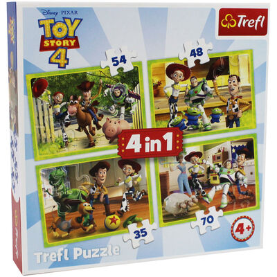 Toy Story 4 4-in-1 Jigsaw Puzzle Set image number 1