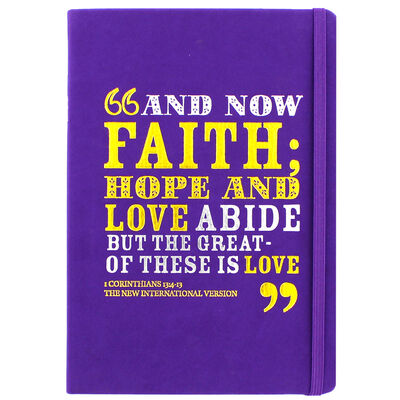 A5 Case Bound PU And Now Faith Notebook image number 1