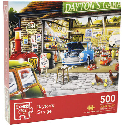 Daytons Garage 500 Piece Jigsaw Puzzle image number 1