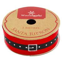 Santa Belt Ribbon Assorted: 3m