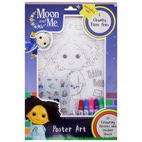 Moon & Me Poster Art Colouring Set