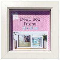 White Deep Box Frame - 10cm x 10cm