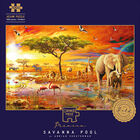Savanna Pool 1000 Piece Jigsaw Puzzle with Portapuzzle Board Bundle image number 2