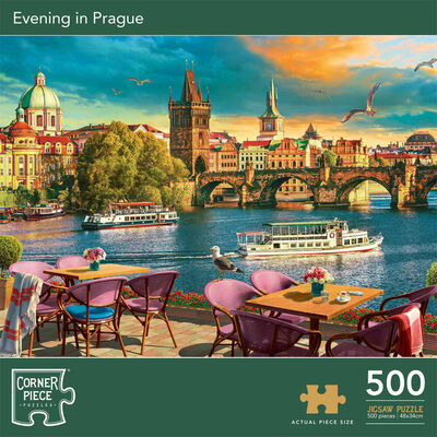 Evening in Prague 500 Piece Jigsaw Puzzle image number 1