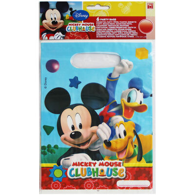 Mickey Mouse Party Bags - 6 Pack image number 1