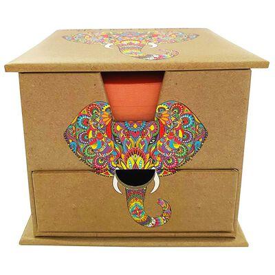Rainbow Elephant Memo Cube image number 3