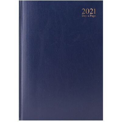 A4 Blue 2021 Day a Page Diary image number 1