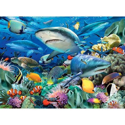 Shark Reef 100 Piece Jigsaw Puzzle image number 2
