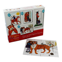 The Tiger Who Came To Tea 4-in-1 Jigsaw Puzzle Set