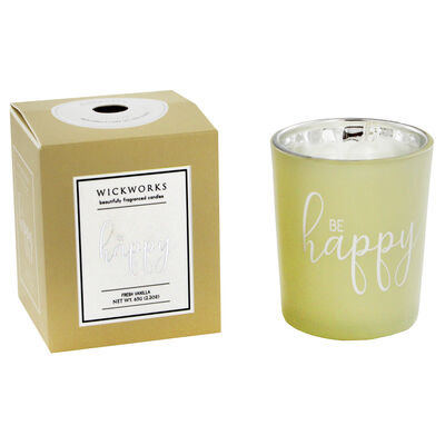 Be Happy Fresh Vanilla Candle image number 2