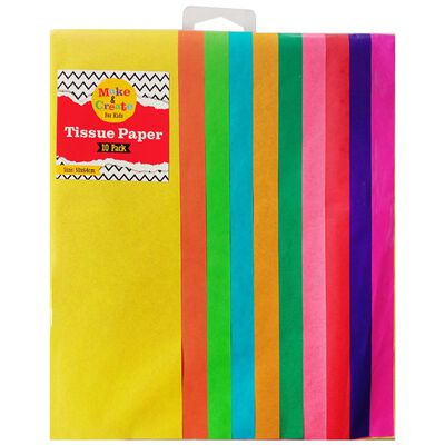 Assorted Coloured Tissue Paper: 10 Sheets image number 1