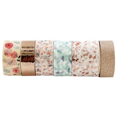 6 x 2m Floral Foil Washi Tape Set image number 2