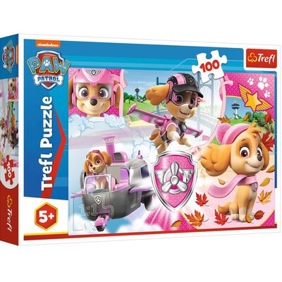 100 Piece Paw Patrol Sky In Action Jigsaw Puzzle image number 1
