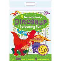 Dinosaur Colouring Fun: 3 Awesome Books