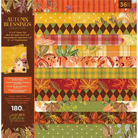 """Nature's Garden Paper Pad: Autumn Blessings Collection 6"""" x 6"""""""