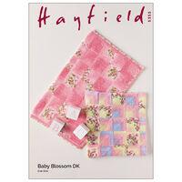 Hayfield Baby Blossom DK: Domino Blankets Knitting Pattern 5355