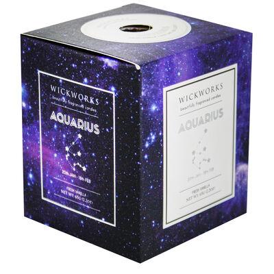 Zodiac Collection Aquarius Fresh Vanilla Candle image number 1