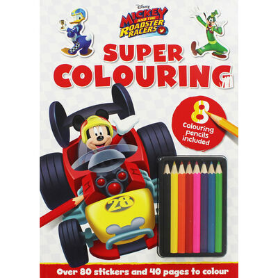 Disney Mickey and the Roadster Racers Super Colouring image number 1