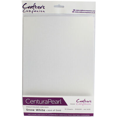 Centura Pearl A4 Snow White - Hint of Silver Card - 10 Sheet Pack image number 1