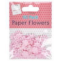 Pink Paper Flowers: Pack of 60