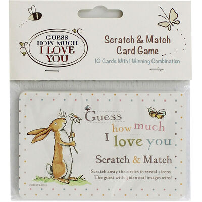 Guess How Much I Love You Scratch and Match Card Game - Pack of 10 image number 1